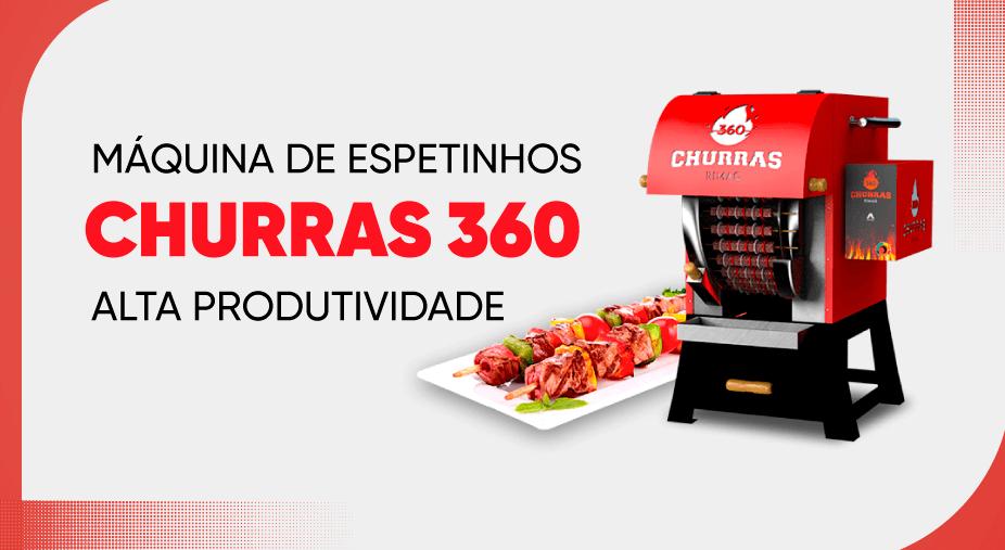Máquina de espetinhos churras 360