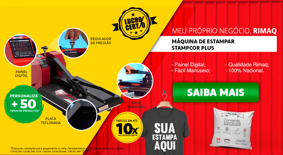 Máquina de Estampar Stampcor Plus - Estampe Camisetas